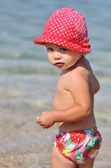 beach toddler