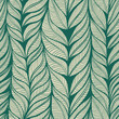 Vintage floral seamless hand drawn background with leaves. Eps10