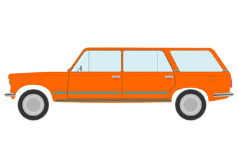Retro station wagon car.