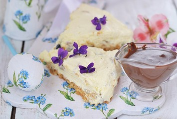 Easter cheesecake.