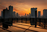 182 - Dubai skyline at sunset