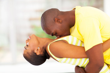 passionate african couple