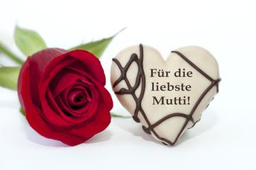 """""""Für die liebste Mutti"""" Muttertagskarte"""