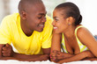 young romantic african couple