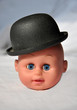 doll head with hat