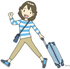 海外旅行 女性