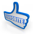 Favorite Word Blue Thumb's Up Social Media