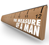 The Measure of a Man Wooden Ruler Words