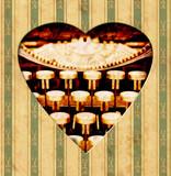 Vintage Heart - Tasten