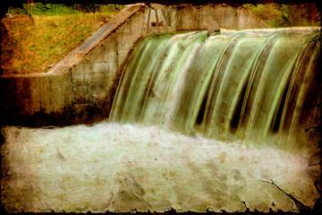 Retroplakat - Wasserdamm