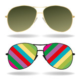 sunglasses color art vector