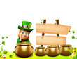 Leprechaun for st patrick day standing near