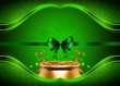 st patrick's day background with golden pot