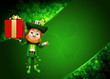 Leprechaun for st patrick's day with gift box