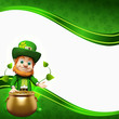 Leprechaun for st patrick's day with golden pot