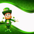 Leprechaun for st patrick's day on green background