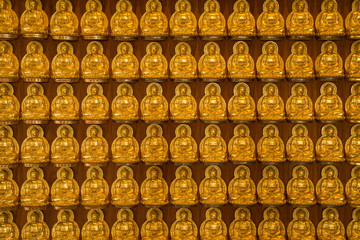 Pattern of gold chinese buddha