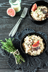 Pearl Barley Risotto with Figs and Thyme