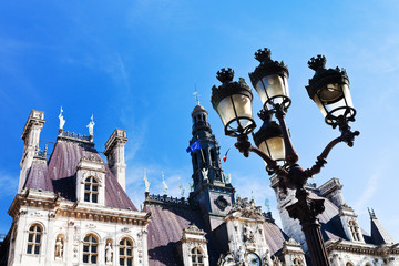 Hotel de Ville (City Hall) in Paris ,