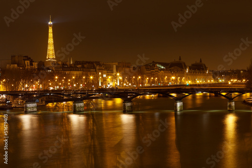 Pont des Arts in Paris at night