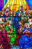 Stained Glass in a Catholic Church