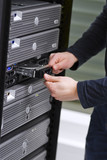 IT Consultant Install a Harddrive in Server poster