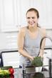 Woman make Healthy Food