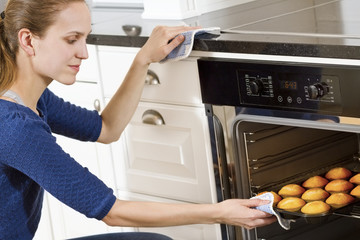 Woman Baking Muffins