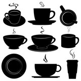 Fototapety coffee cups set vector