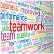 """TEAMWORK"" Tag Cloud (team management goals targets objectives)"