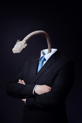 Disconnected Businessman