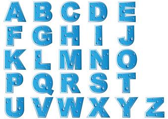 Alphabet-Gouttes