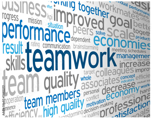 """TEAMWORK"" Tag Cloud (team management goals targets success)"