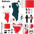Постер, плакат: Map of Bahrain