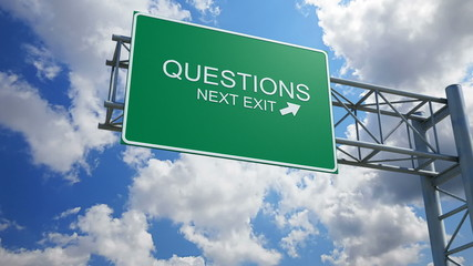 Questions - 3D Highway Exit Sign