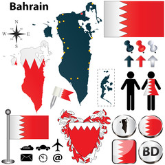 Map of Bahrain