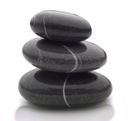 three wet stones
