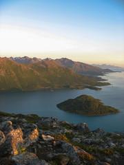 Landscape in the Lofoten islands