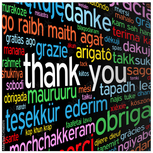"""THANK YOU"" Tag Cloud (thanks gratitude appreciation card)"