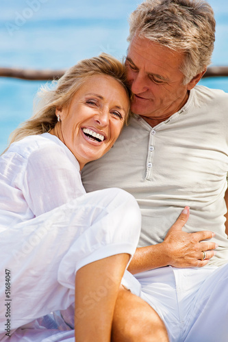Portrait of a happy romantic couple outdoors.
