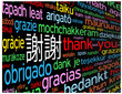 THANK YOU Card (chinese languages translation symbol tag cloud)