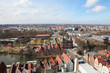 Aerial view on the center of Lubeck, Germany
