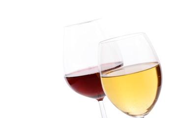 Red wine and white wine
