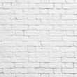 canvas print picture - White brick wall