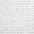 Leinwanddruck Bild - White brick wall
