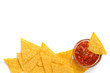 tortilla chips and spicy tomato sauce
