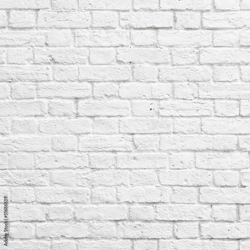 Deurstickers Wand White brick wall