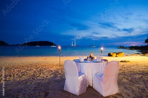 In de dag Buffet, Bar honeymoon seat on the beach