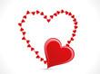 abstract shiny heart template