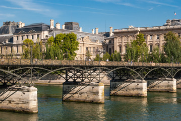 Pont des Arts on Seine river, Paris